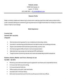 High Senior Resume Template 10 High Resume Templates Free Sles Exles Formats Free Premium