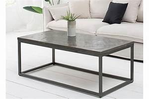 Table Basse Bois Gris : table basse rectangulaire plateau bois massif teint gris ~ Melissatoandfro.com Idées de Décoration