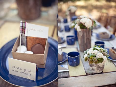 Camping Themed Rustic Outdoor Wedding Make Your Own Smores