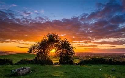 Sunset Landscape 4k Ultra Wallpapers Scenery Nature