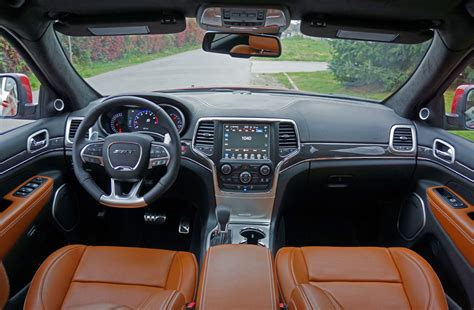 srt jeep 2016 interior 2016 jeep grand cherokee srt road test review the car