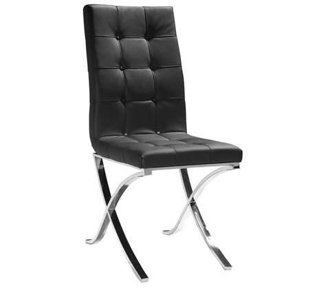 dreamfurniture modern black leatherette dining chair
