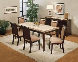 Beautiful, Granite, Dining, Table, Set, U2013, Homesfeed