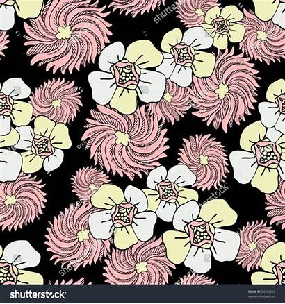 Seamless Colorful Abstract Fabric Creative Flowers Pattern