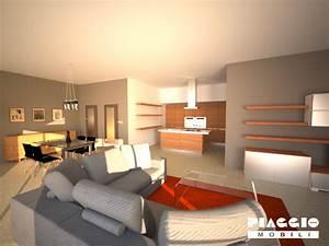 cucina soggiorno unico ambiente moderno: cucina e living minimal ... - Unico Ambiente Cucina Salotto
