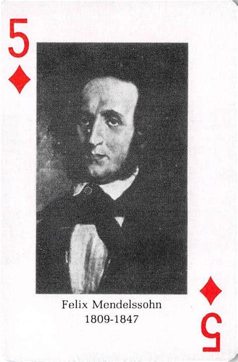 Felix Mandelssohn gaming playing card Classical Composers ...