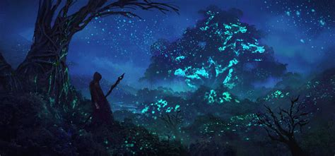 Blue Magical Wallpaper Hd by Wallpaper Trees Blue Magic