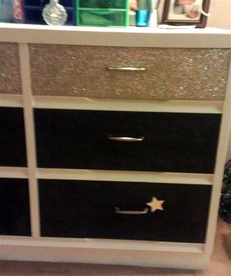 glitter dresser  drawer decorating  cut