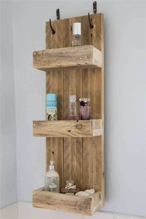 rustic bathroom shelves   reclaimed pallet wood