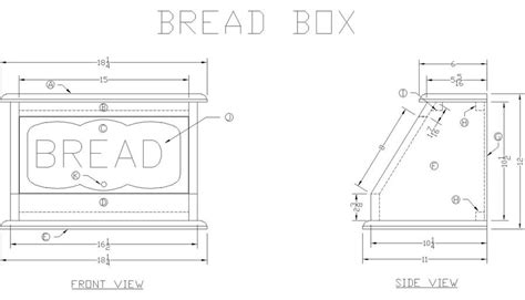 wooden bread box  lees wood projects