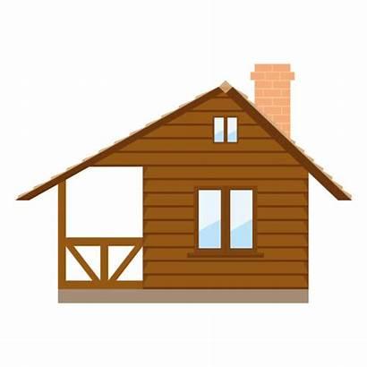 Vector Cabin Log Illustration Clip Isolated Illustrations