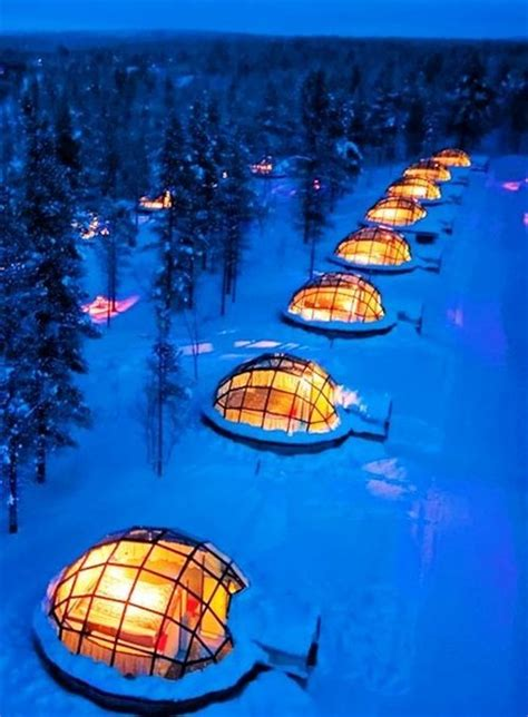 rent a glass igloo in finland to the northern lights