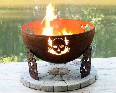backyard skulls such an awesome skull pit diy bikers do it