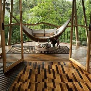 bambus balkon vs bambus terrasse super gestaltungen With französischer balkon mit baby schaukel garten