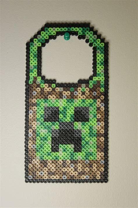 hama beads minecraft ideas  pinterest