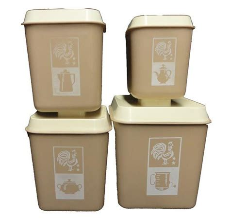 Retro Canisters Kitchen by Clearance Vintage Canister Set Vintage Rooster Canisters