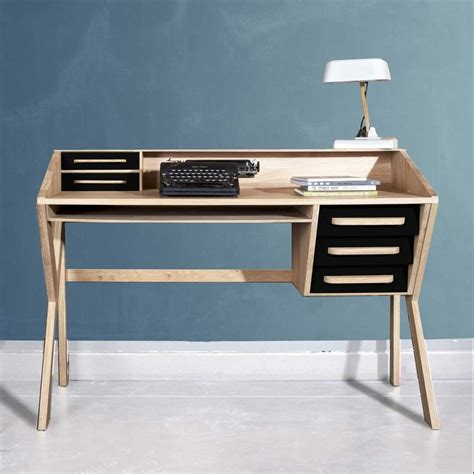 bureau ethnicraft mr marius desk origami mr marius ethnicraft
