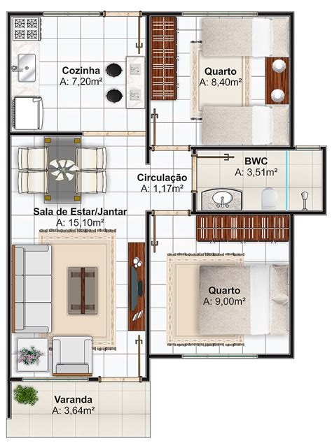 casa t 9 projetos de casas pequenas planta baixa