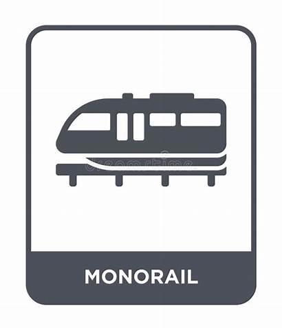 Monorail Icon Icona Della Monorotaia Nello Progettazione