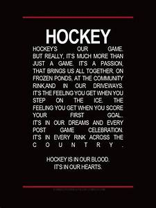 Hockey is in us | Inspirational Quotes | Pinterest | Night ...