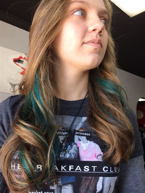 Best 25 Teal Hair Highlights Ideas On Pinterest Teal