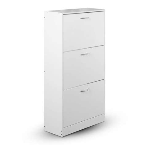 Images Of Shoe Racks Cabinets by 3 Shelves Shoe Rack Storage Cabinet In White Buy Shoe