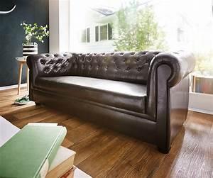 3 Sitzer Couch : couch chesterfield braun 3 sitzer sofa abgesteppt gepolstert ~ Bigdaddyawards.com Haus und Dekorationen