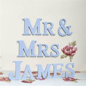 handmade personalised mr mrs letters by altered chic With mr mrs letters