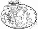 Goosebumps Coloring Pages Halloween Haunted Slappy Showtimes Getcoloringpages Away Word Danger Keep Activity Crafts sketch template