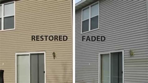 can you paint vinyl siding don t paint vinyl siding use vinyl renu to restore youtube