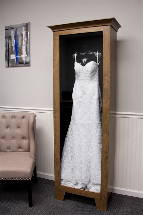 wedding dress display case distinctive millworks