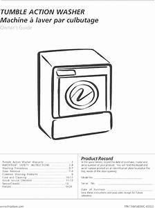 Frigidaire Ftf2140es0 User Manual Washer Manuals And