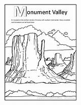 Coloring Valley Canyon Grand Monument Getcolorings Printable States United Draw sketch template