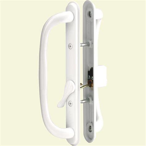 sliding door handles home depot prime line sliding door handle set 10 in pull keyed