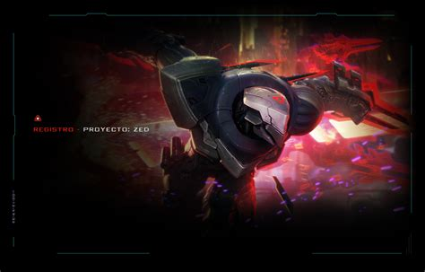 Registro  Proyecto Zed  League Of Legends