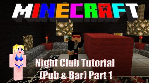 minecraft building  nightclub part  bar seating area youtube