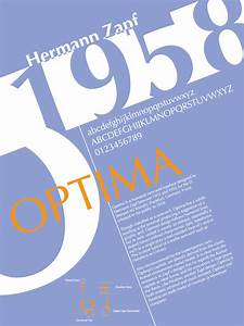Font History Posters - Optima by Lludu | Inspirujące ...
