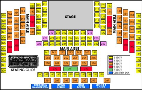 westchester broadway theatre seating chart seating chart seating theatre performances theatre shows westchester
