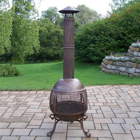 Oakland Living Cast Iron Outdoor Woodburning Fireplace At