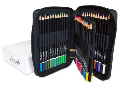 premium colored pencils premium 48 colored pencil set with and sharpener