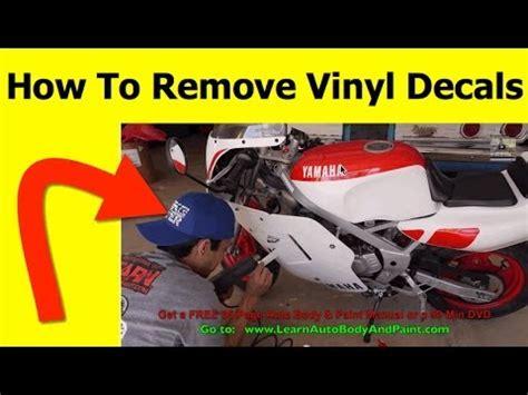 How To Remove Vinyl Decals Youtube