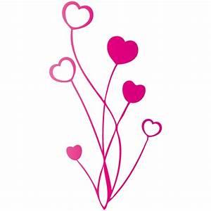 sticker bouquet de coeurs With chambre bébé design avec bouquet fleur coeur