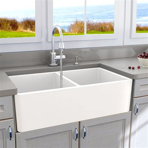 farm style sinks for kitchen nantucket sinks cape 33 quot x 18 quot basin farmhouse 8909