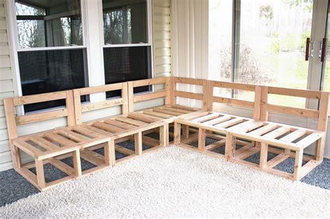 diy custom sectional corner sofa plan design  natural