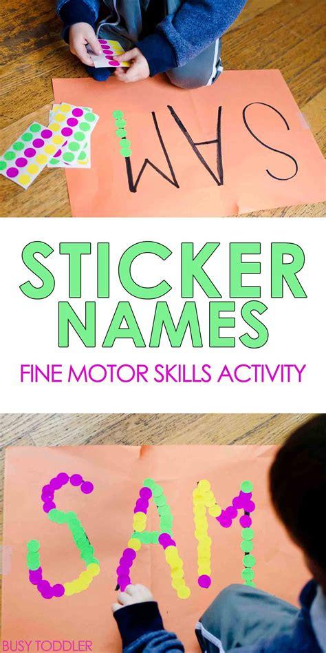sticker names toddler activity 460 | dbb3e5d334a7f680c3b7453b4bd47b0e