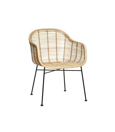 chaise ronde en rotin chaise rotin accoudoirs hubsch