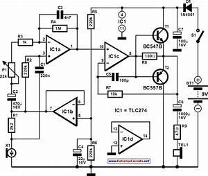 Pulse Rate Monitor Circuit Diagram