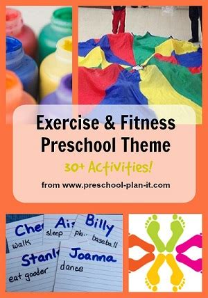 preschool fitness amp exercise theme 390 | fitness theme collage