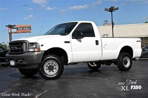 how does cars work 2003 ford f250 spare parts catalogs sell used 2002 ford f250 super duty xl 4x4 work truck 5 4l v8 ac cd player serviced wow in
