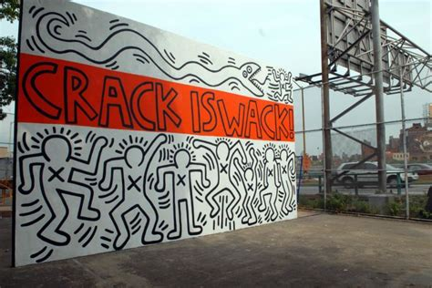 keith haring mural nyc keith haring is wack mural in 1986 on the handball court walls in the is wack